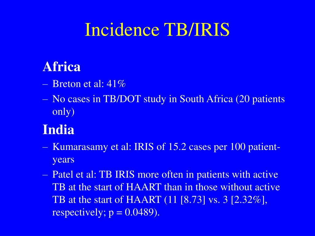 Incidence TB/IRIS
