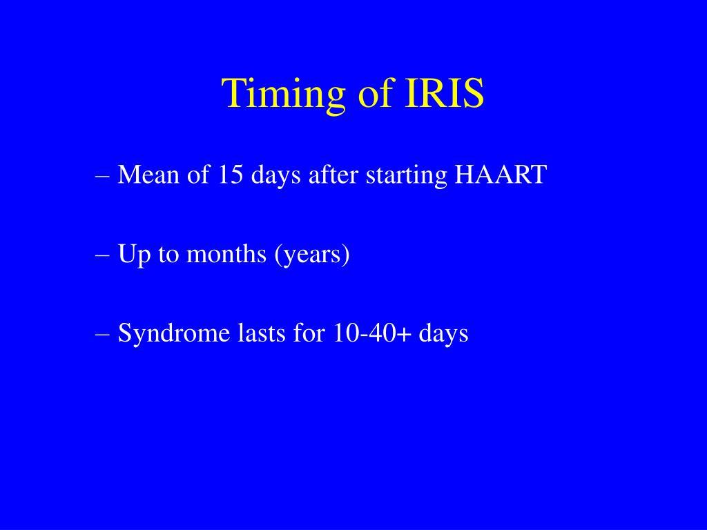 Timing of IRIS