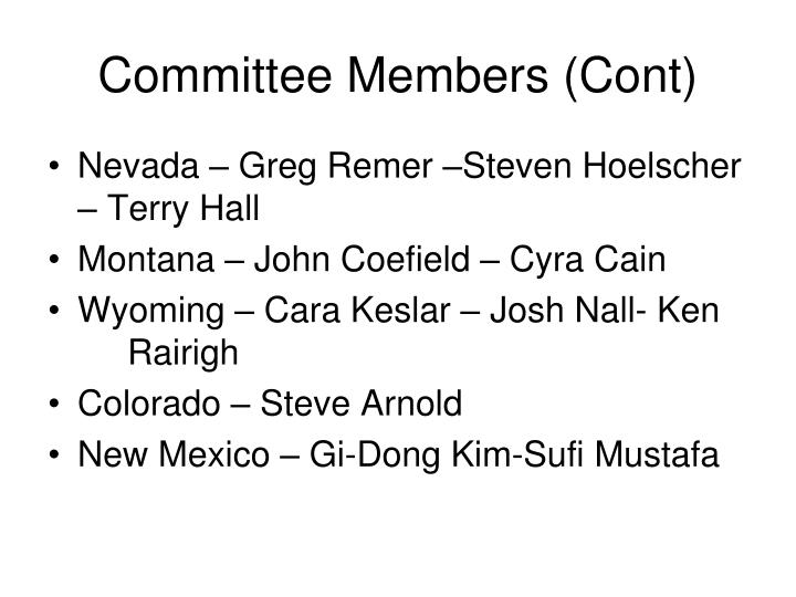 Committee Members (Cont)