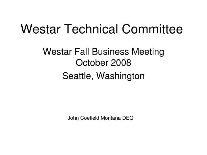 Westar technical committee