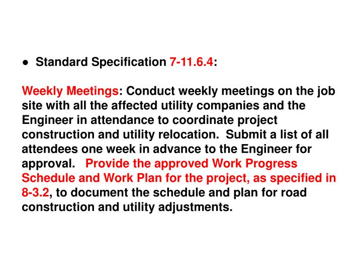 ●  Standard Specification