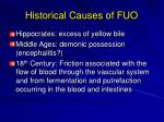 historical causes of fuo