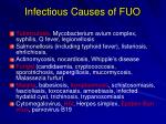 infectious causes of fuo22