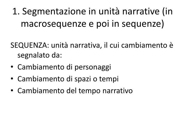 1. Segmentazione