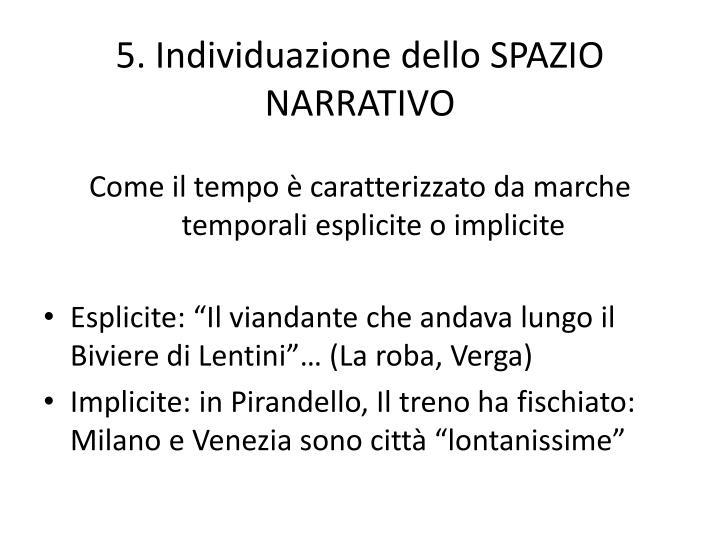 5. Individuazione