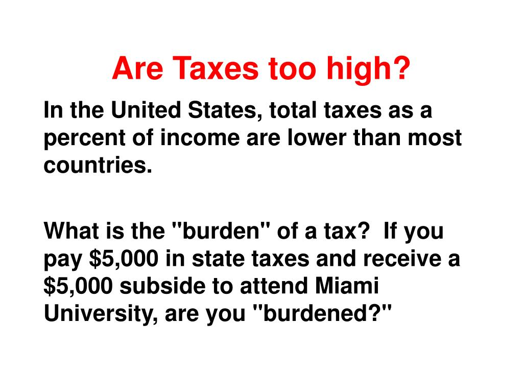 Are Taxes too high?