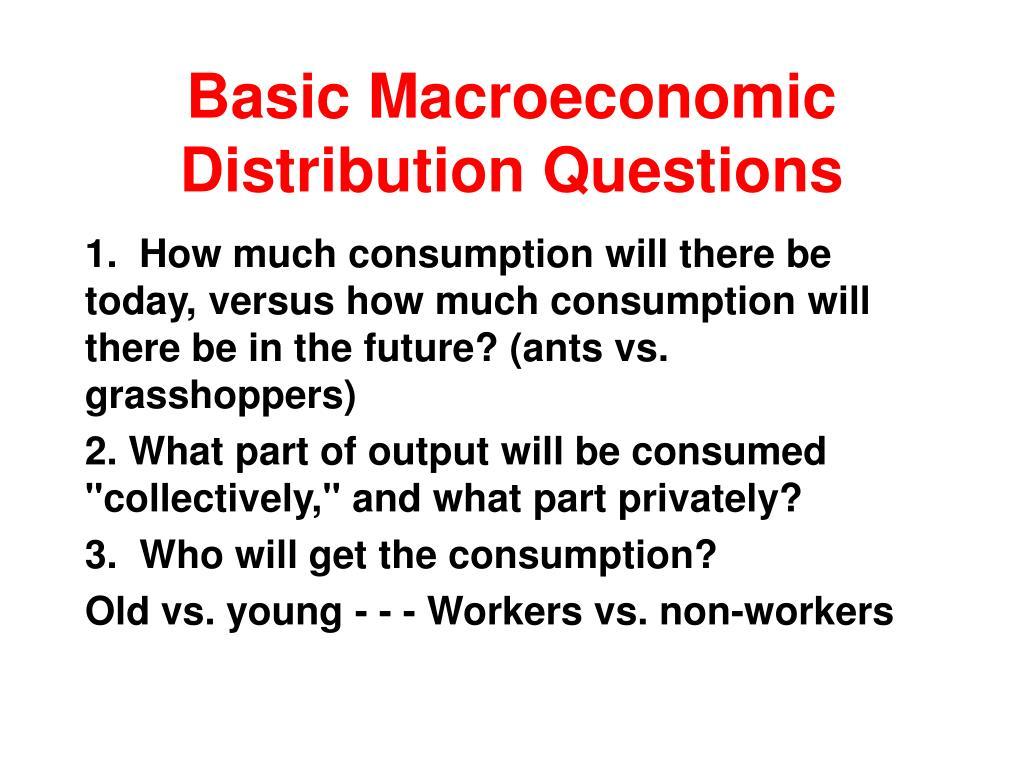Basic Macroeconomic Distribution Questions