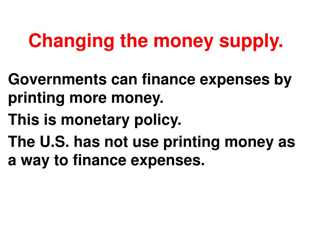 Changing the money supply.