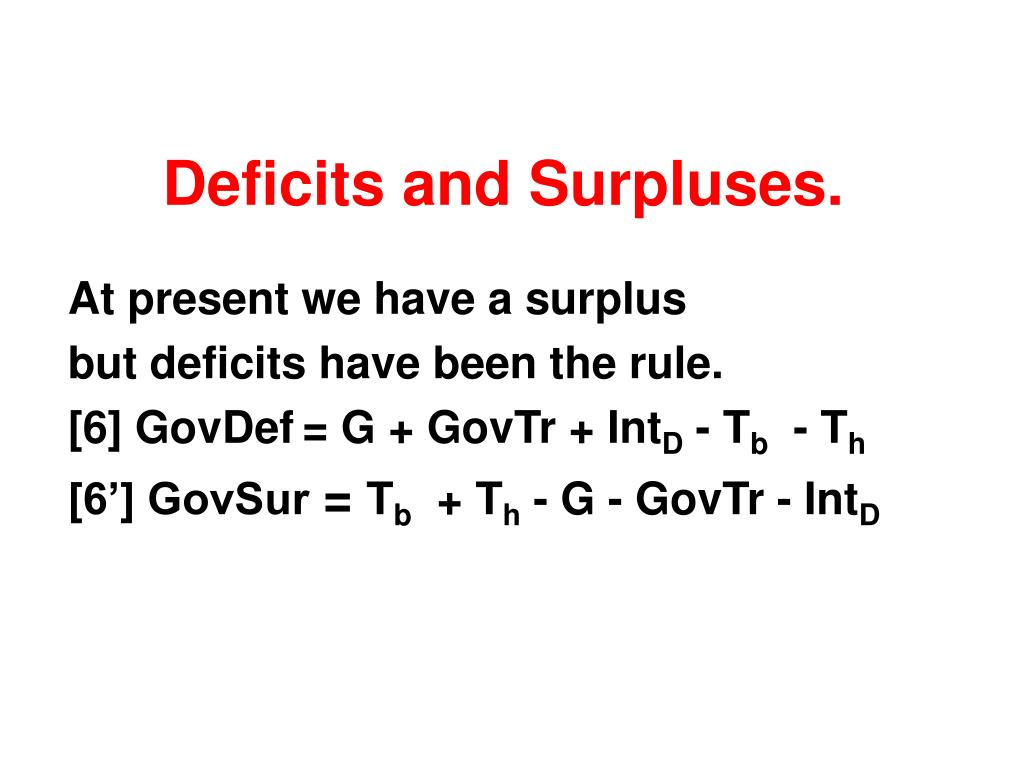 Deficits and Surpluses.