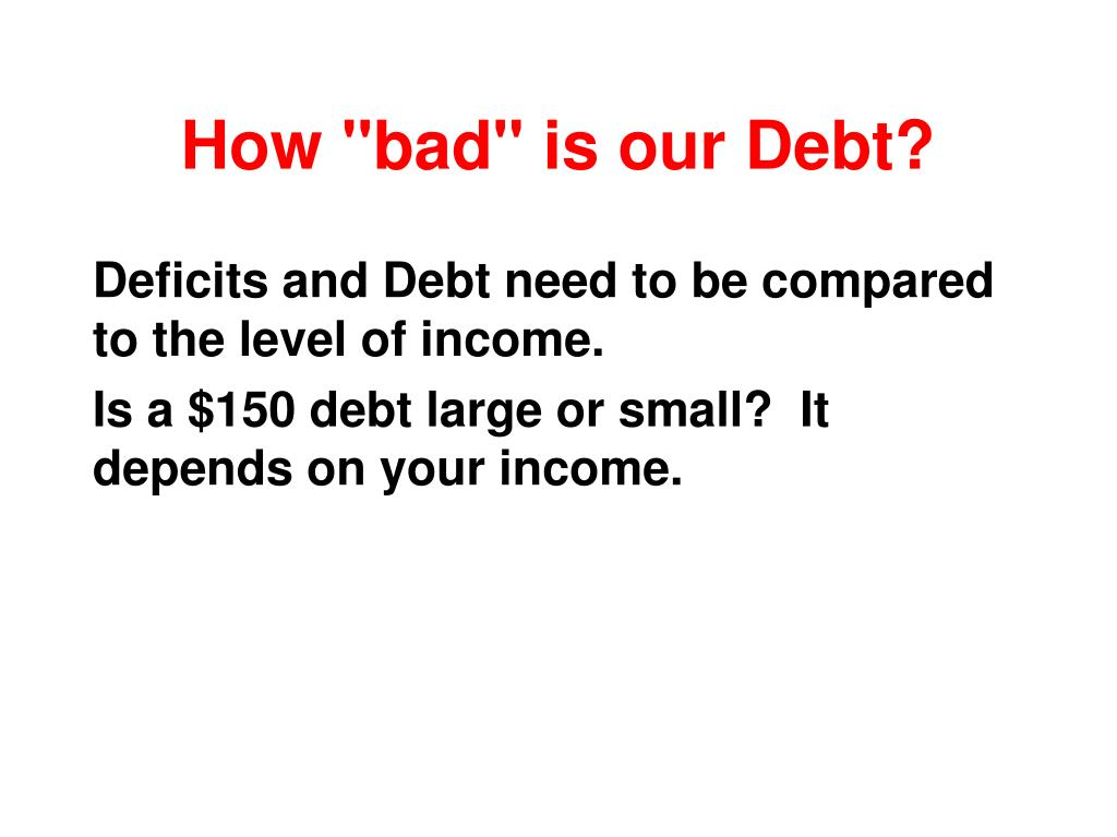 "How ""bad"" is our Debt?"