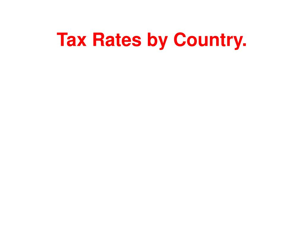 Tax Rates by Country.