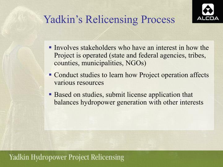 Yadkin's Relicensing Process
