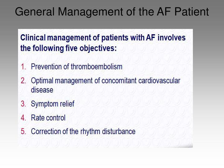 General Management of the AF Patient