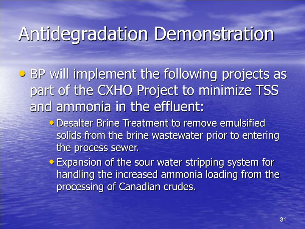 Antidegradation Demonstration