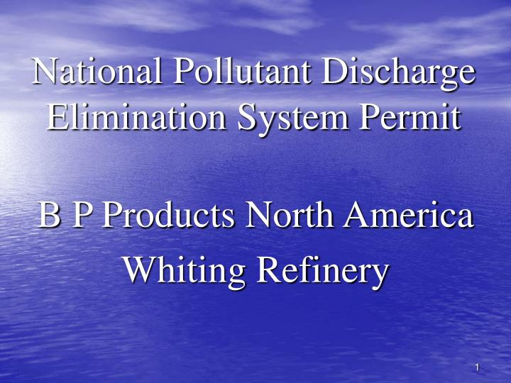 National pollutant discharge elimination system permit