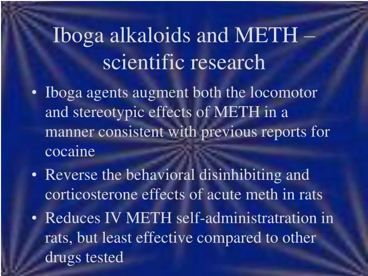 Iboga alkaloids and METH – scientific research