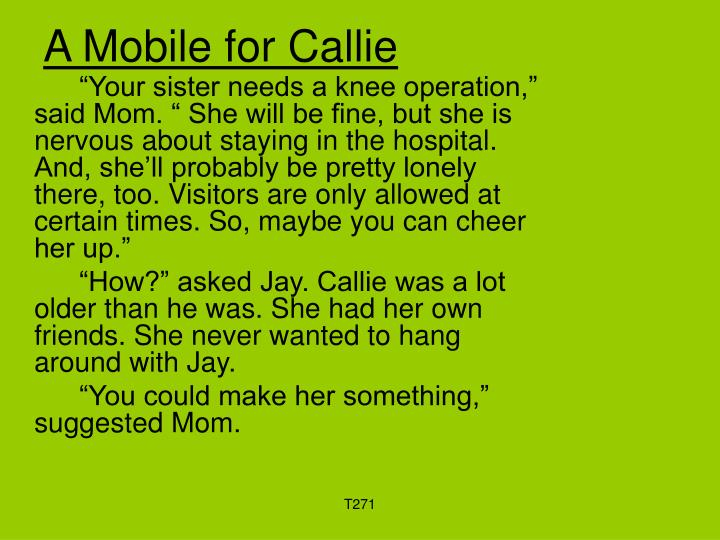 A mobile for callie