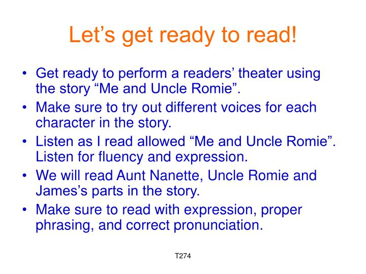 Let's get ready to read!