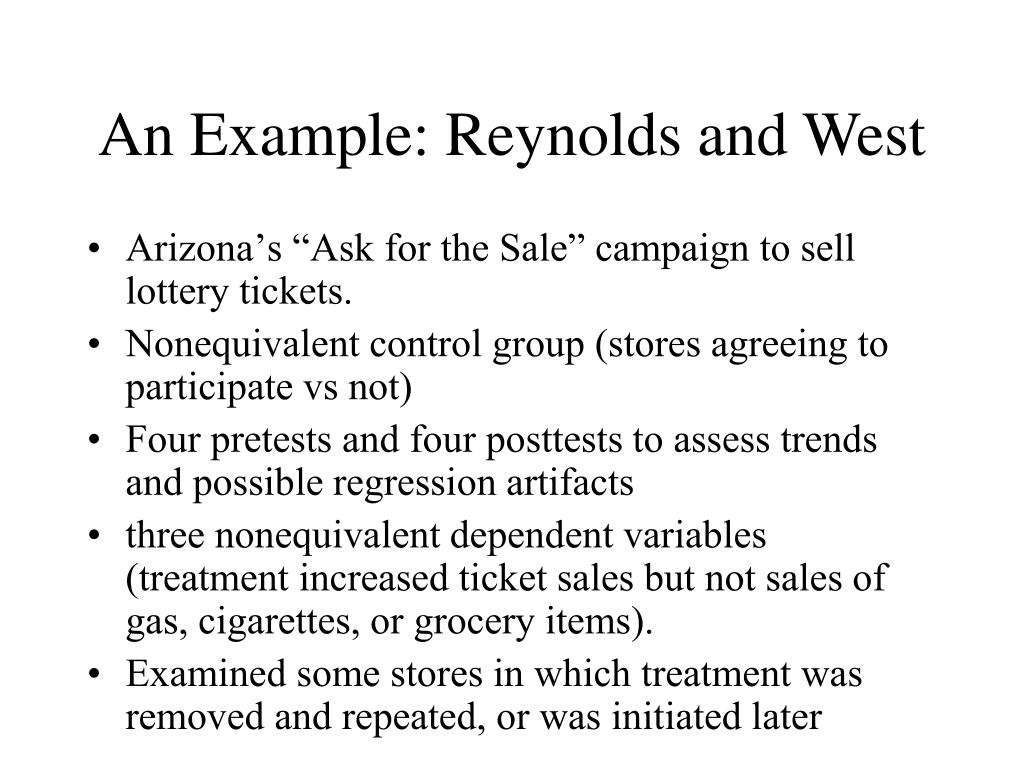 An Example: Reynolds and West