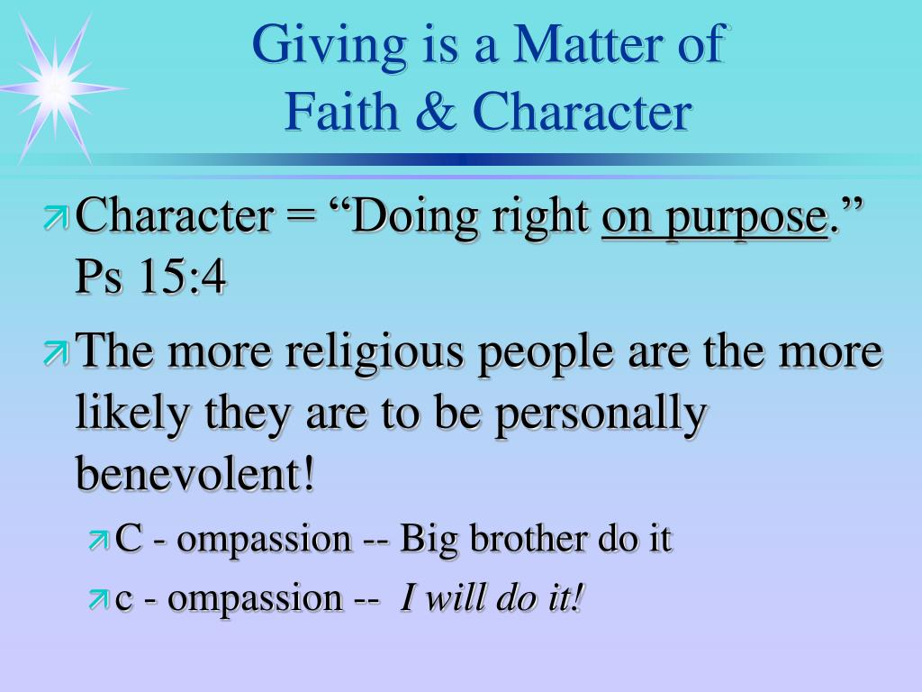 Giving is a Matter of