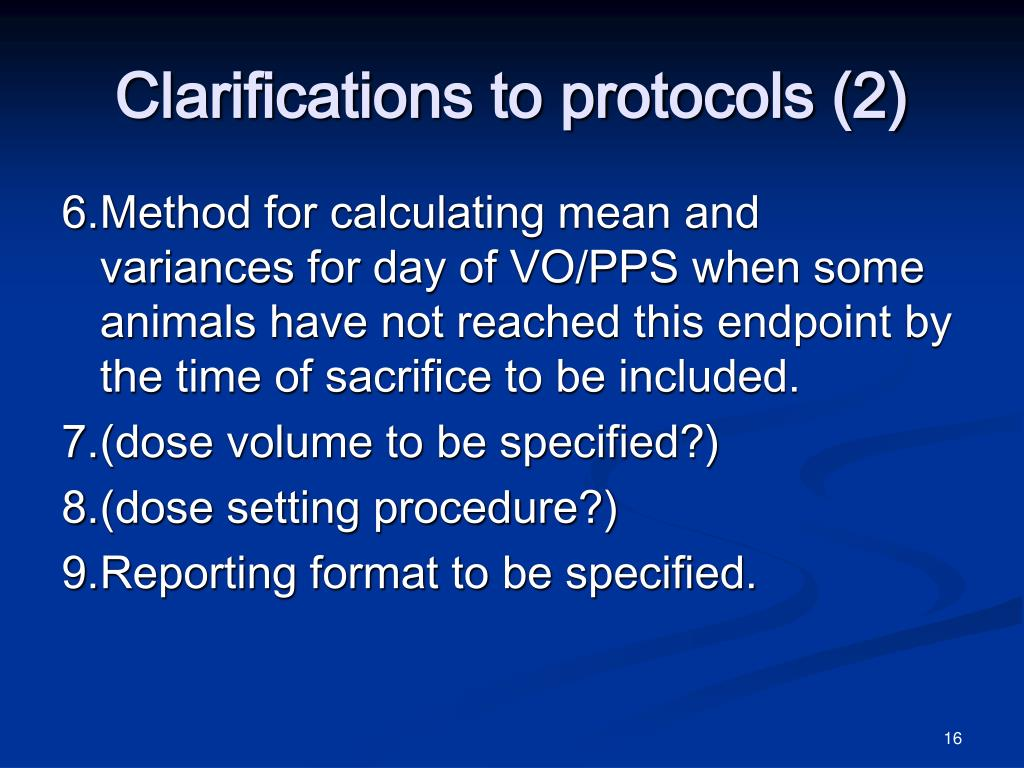 Clarifications to protocols (2)