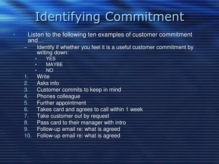 Identifying Commitment