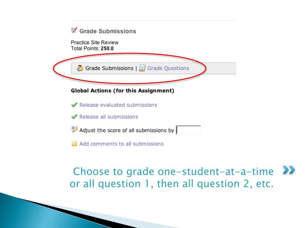 Choose to grade one-student-at-a-time