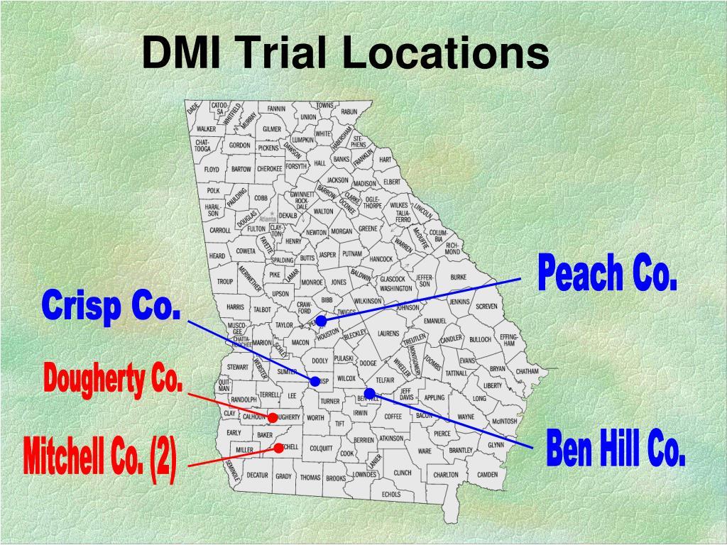 DMI Trial Locations