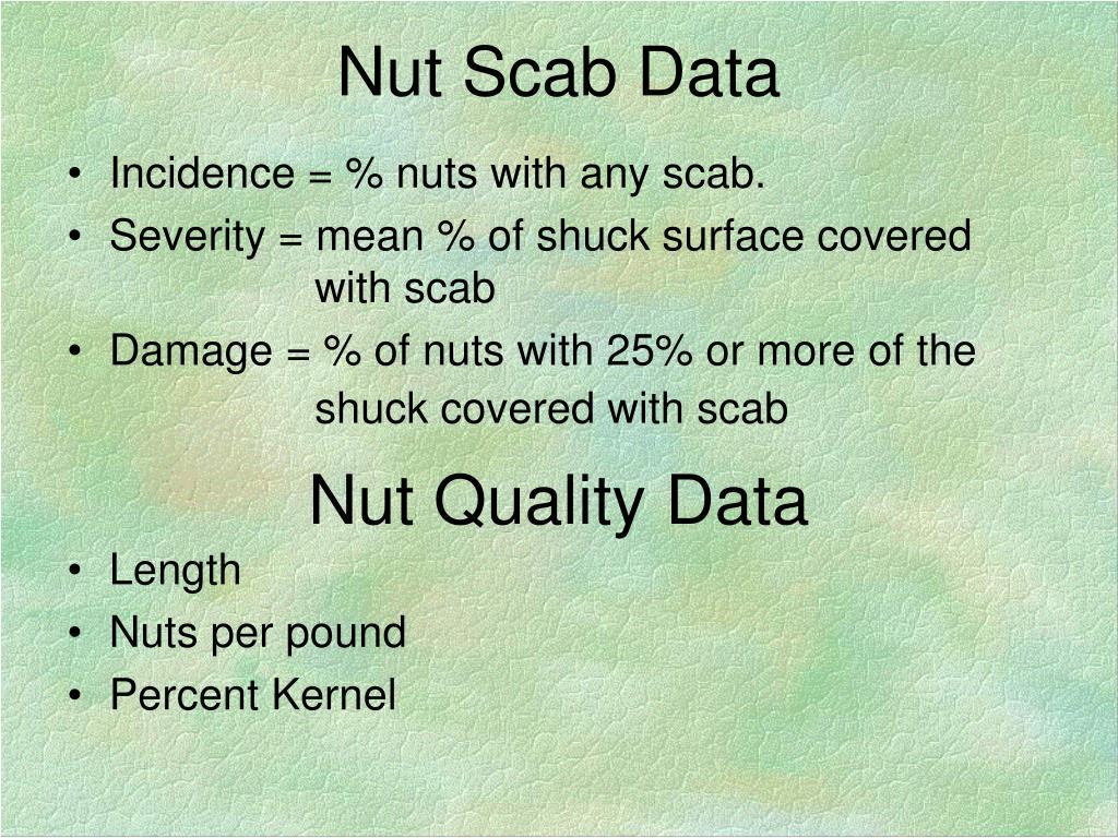 Nut Scab Data