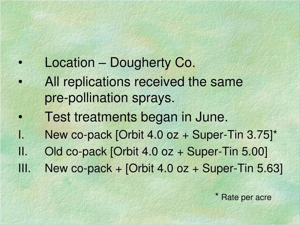 Location – Dougherty Co.
