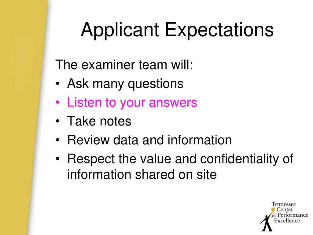 Applicant Expectations