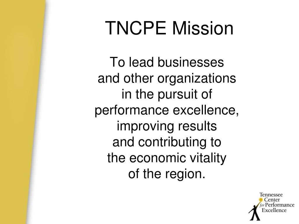 TNCPE Mission