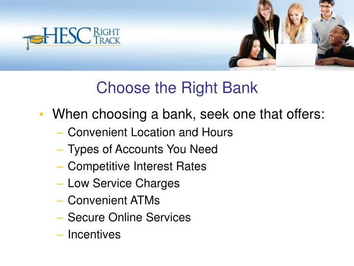 Choose the Right Bank