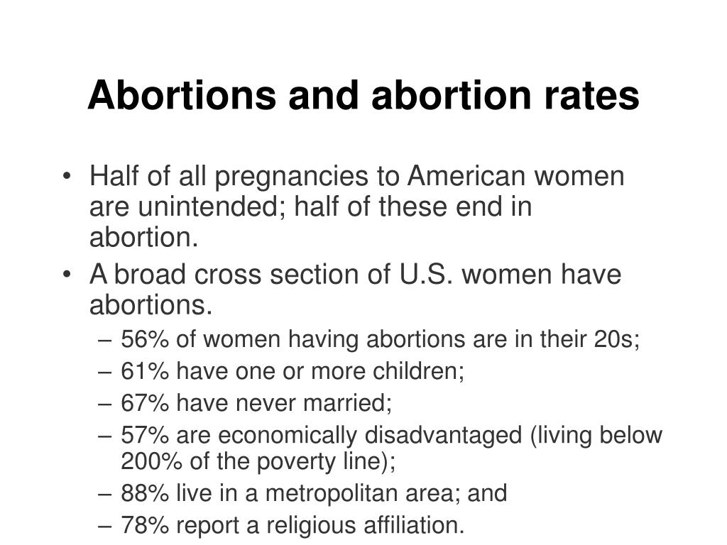 Abortions and abortion rates