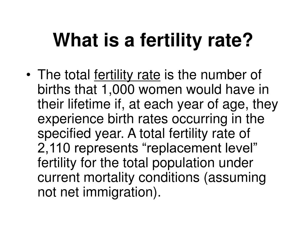 What is a fertility rate?