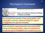 the expert s comment2