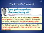 the expert s comment8