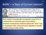 wdrc a topic of current interest