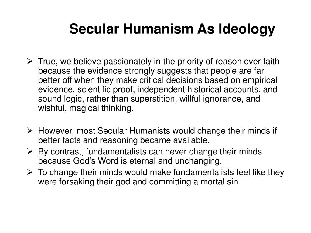 Secular Humanism As Ideology