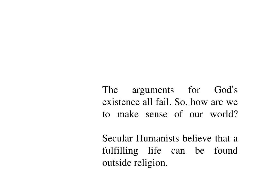 The arguments for God