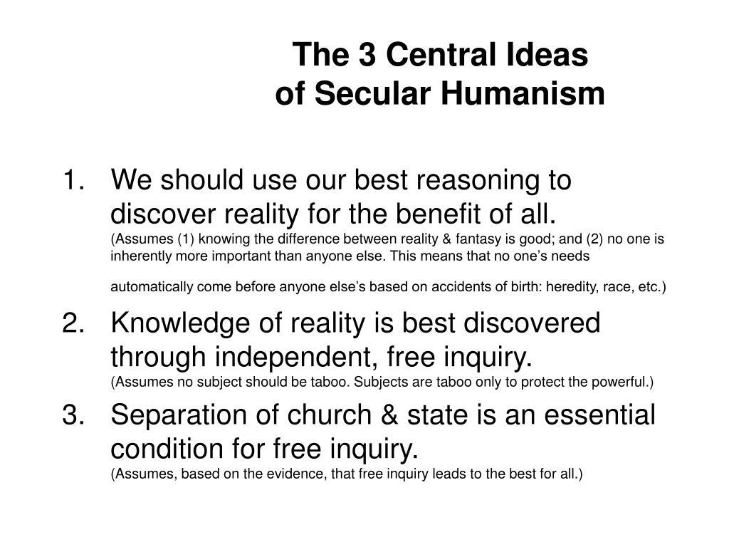 The 3 Central Ideas