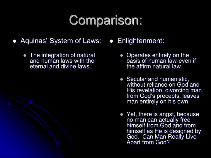 Aquinas' System of Laws: