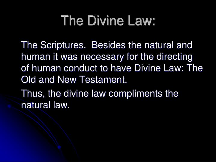 The Divine Law: