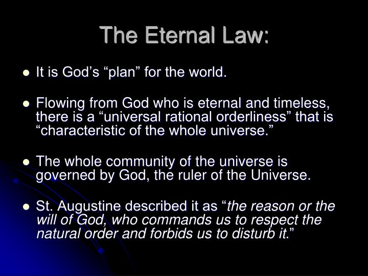 The Eternal Law: