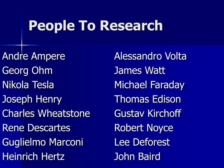 People To Research