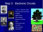 step 3 electronic circuits