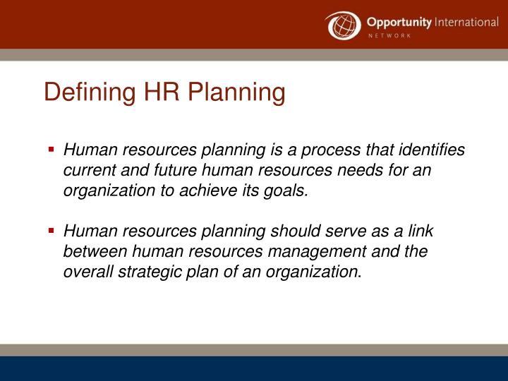 Defining HR Planning