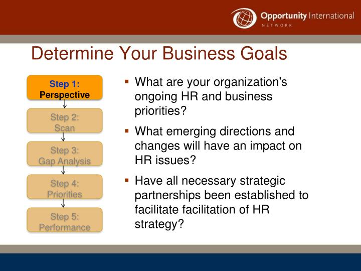 Determine Your Business Goals