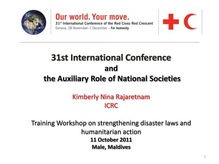 31st International Conference