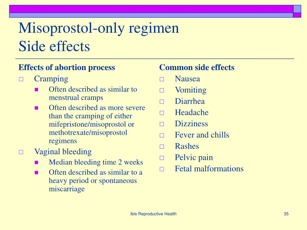 Effects of abortion process